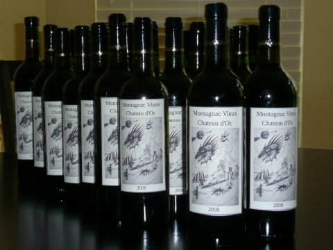 30 bottles of Chateau d'Oc